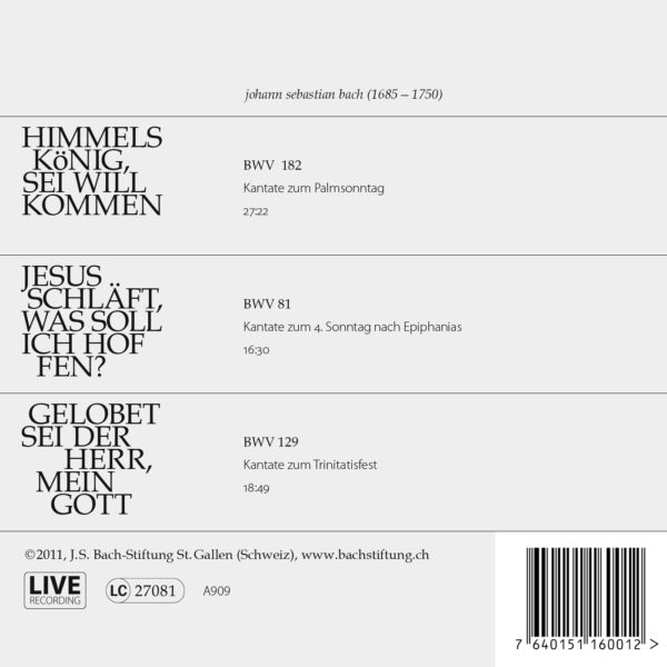 CD Bachkantaten N 1 Back