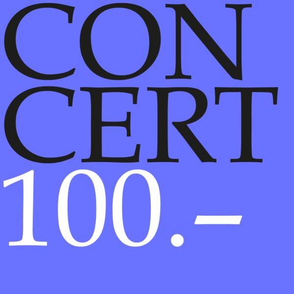 Concert gift voucher CHF 100.00-0