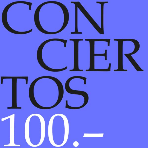 Cupón para conciertos 100-0