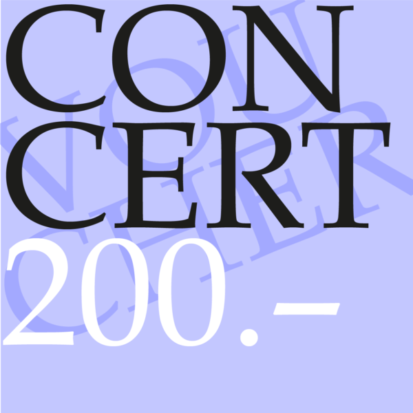 Concert gift voucher CHF 200.00-0