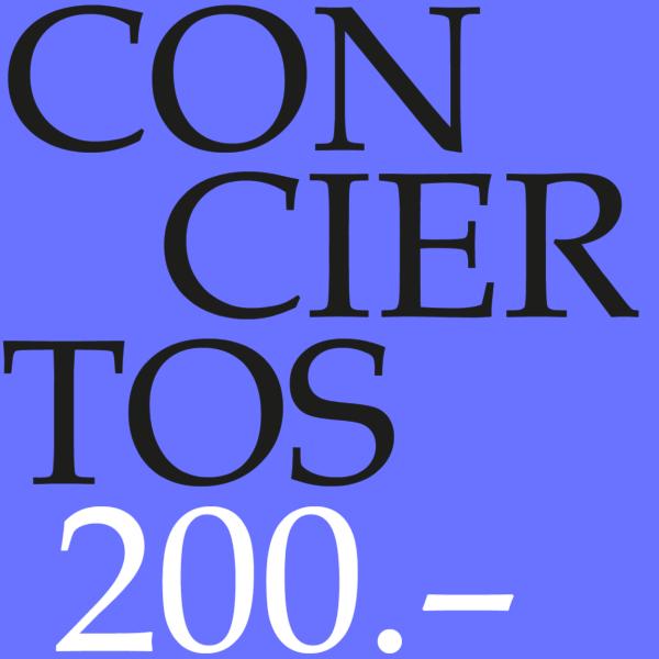 Cupón para conciertos 200-0