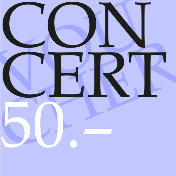 Concert gift voucher CHF 50.00-0