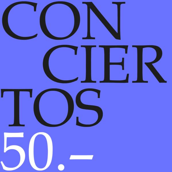 Cupón para conciertos 50-0
