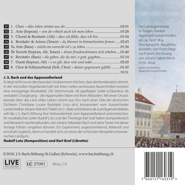 CD Landsgemeindekantate «Alles Leben strömt aus dir» Back
