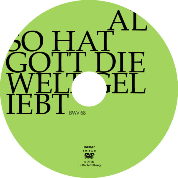 BWV068 Label Also hat Gott die Welt geliebt
