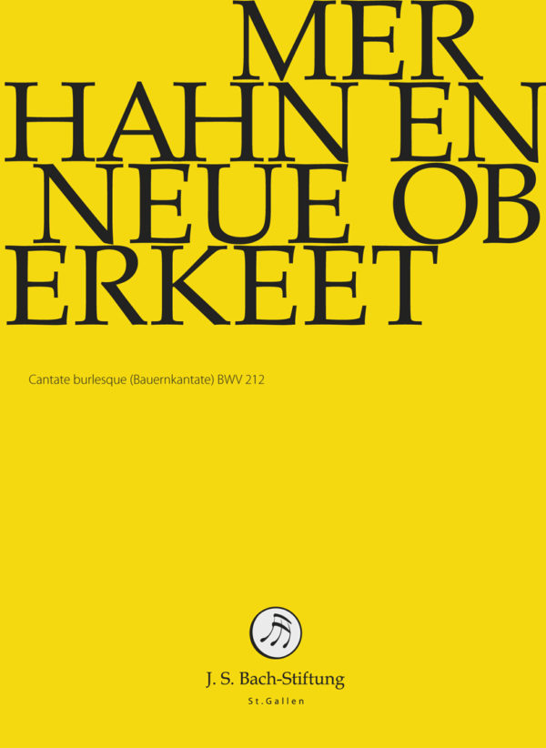 BWV212 Front Mer hahn en neue Oberkeet