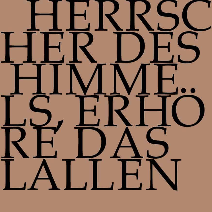 BWV 248/3: Herrscher des Himmels, erhöre das Lallen