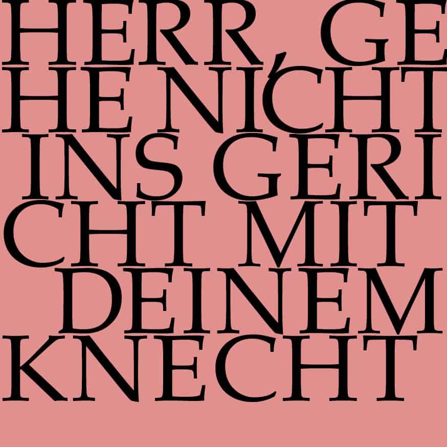 BWV 105: Herr, gehe nicht ins Gericht mit deinem Knecht