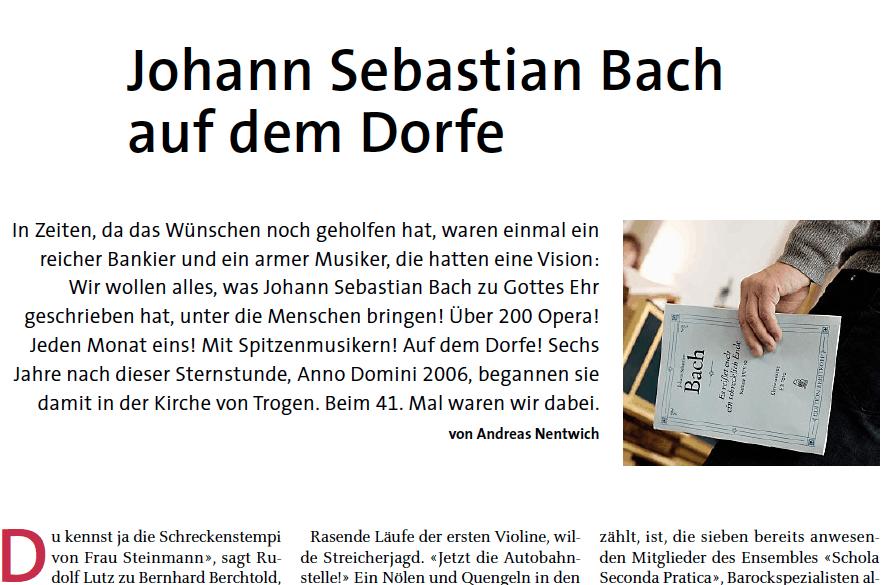 Johann Sebastian Bach auf dem Dorfe