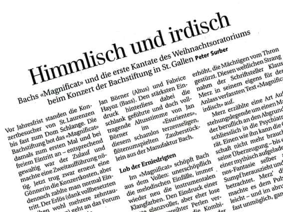 """Das Magnificat: """"himmlisch und irdisch"""""""