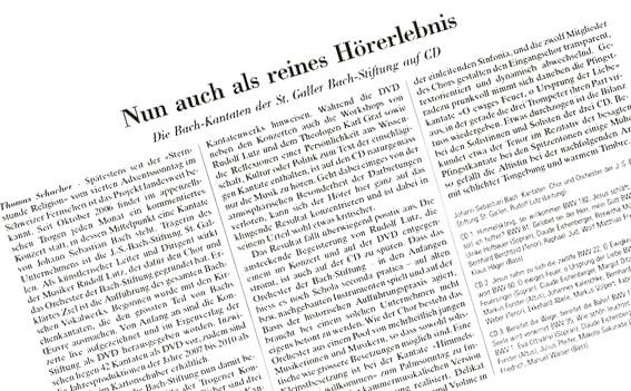 """NZZ: """"Reines Hörerlebnis"""""""
