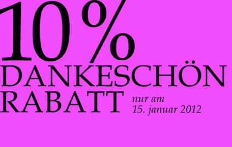15. Januar: 10% im Shop