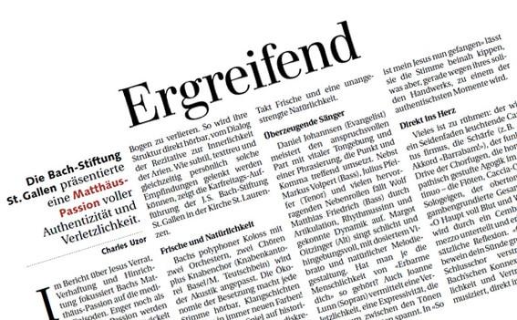 """""""Ergreifende"""" Matthäus-Passion"""