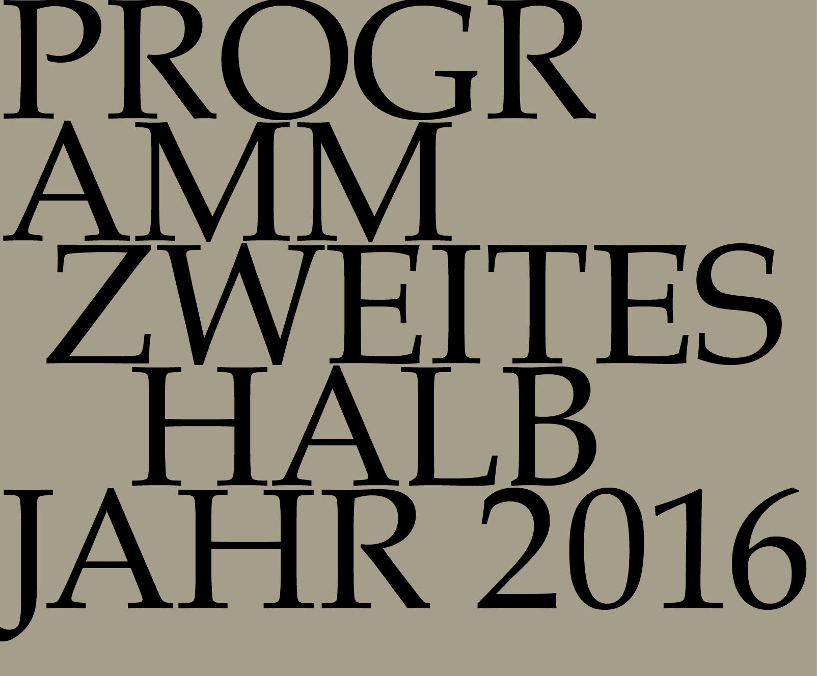 Halbjahresprogramm II/2016