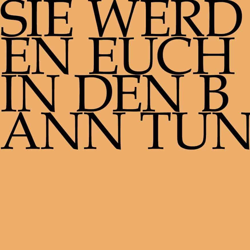 BWV 183: Sie werden euch in den Bann tun