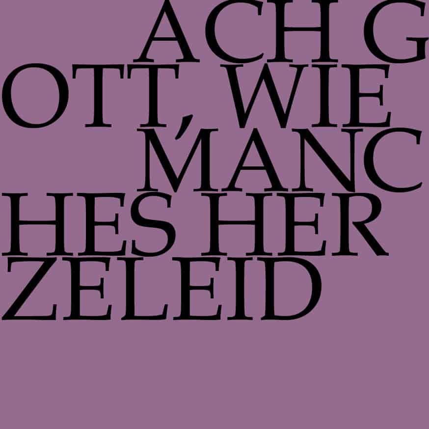 BWV 3: Ach Gott, wie manches Herzeleid